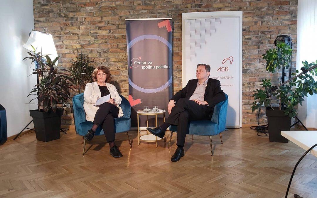 """Panel diskusija  """"Srbija, Zapadni Balkan i zapadne integracije u vremenima izazova"""""""
